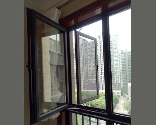 外平开金钢网纱窗