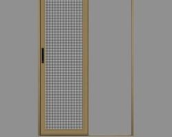 西安单轨推拉式金钢网纱门